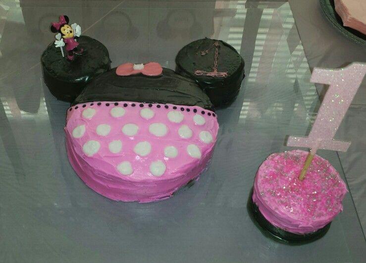 Minnie Mouse Diy Birthday Cake And Smash Cake My Diy