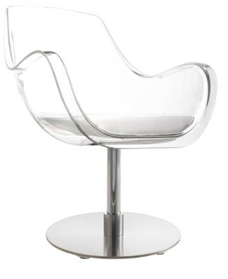 Manon Clear Styling Chair   Design X