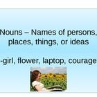Parts of Speech basic PowerPoint with practice slide....
