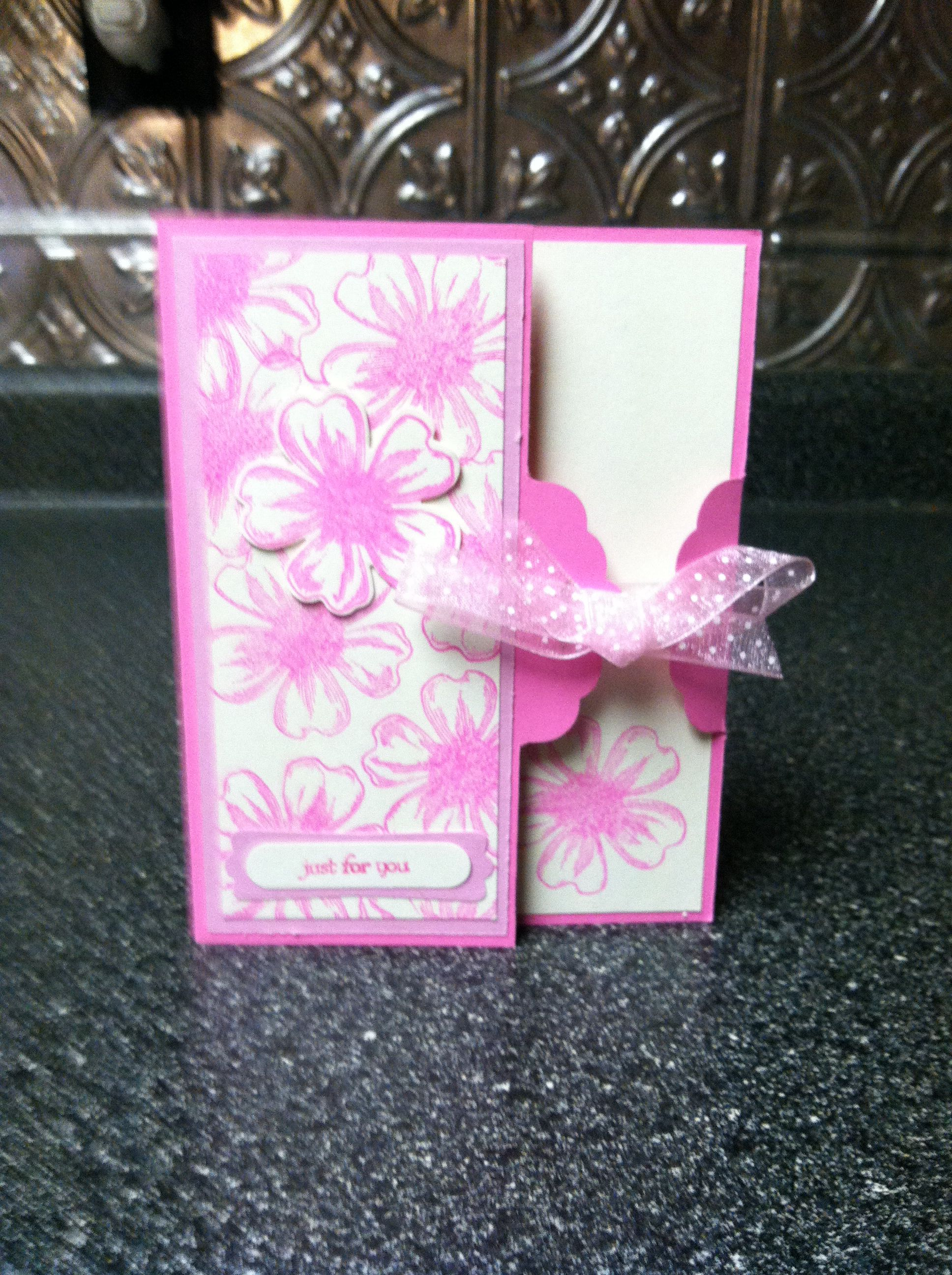 su flower shop and scalloped tag topper punch  card box