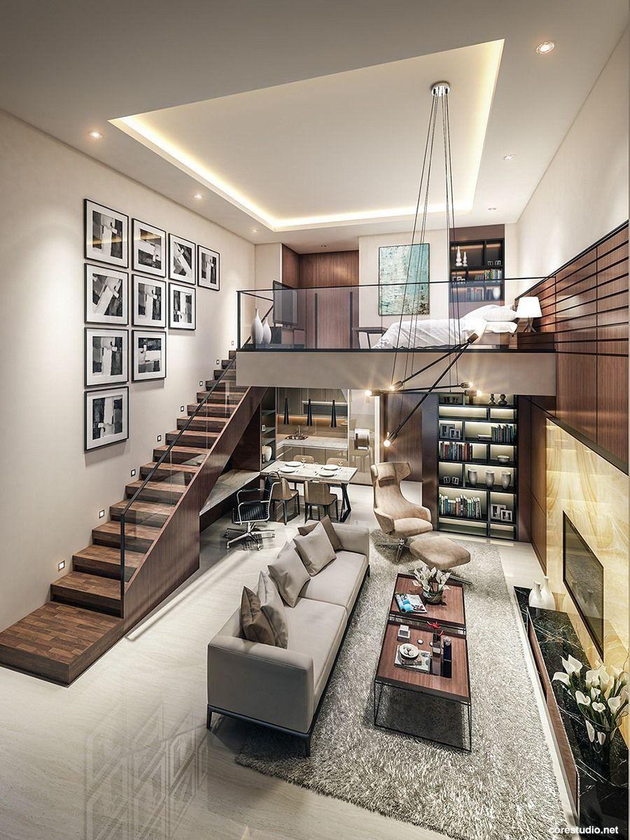 Loft Design Idea Living Room Inspirational Small Homes That Use Lofts To Gain More Floor Space Rumah Desain Interior Dekorasi Rumah