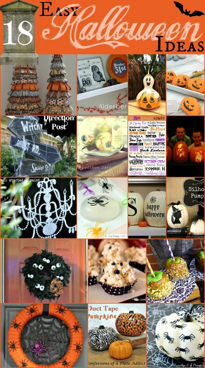 Easy Ideas for Halloween Halloween, Halloween crafts