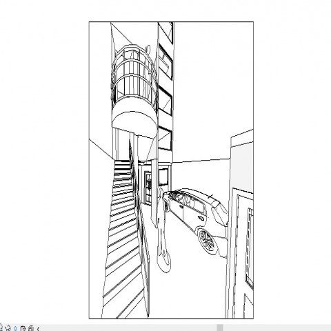 Apartment AutoCAD floor plan and architecture drawing in