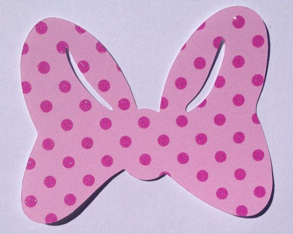 Mouse Bow Template  Pink Minnie Mouse Bow Template Pink Minnie