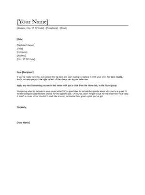 Cover Letter For Any Position Basic Sample Letters Job Examples