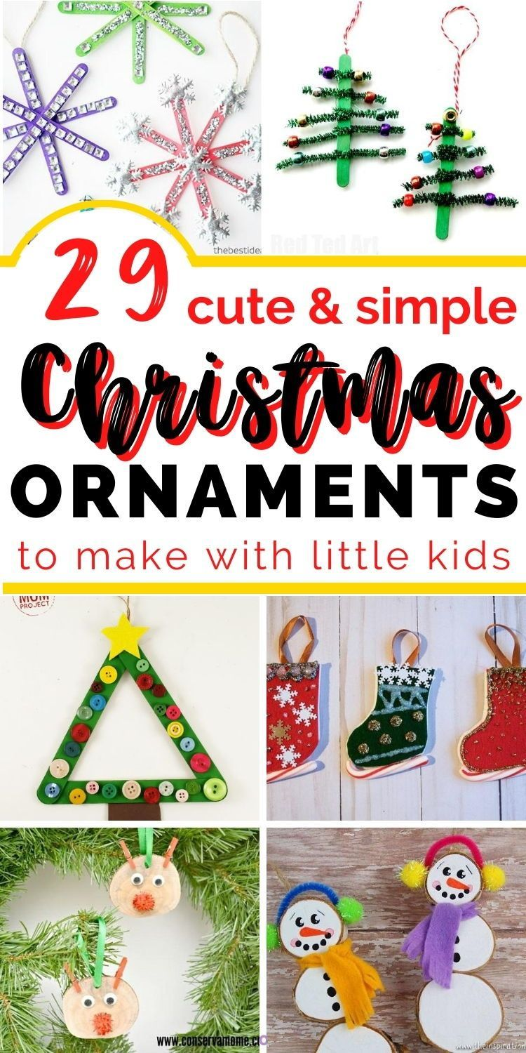 29  adorable Christmas ornaments to make with your toddlers (that won't drive you bonkers) -   18 christmas crafts for kids preschool ideas
