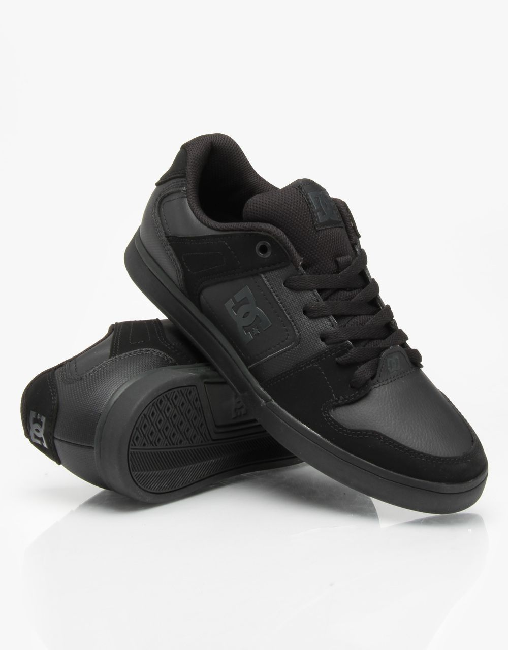 DC Static Skate Shoes - Pirate Black/Black - RouteOne.co.uk