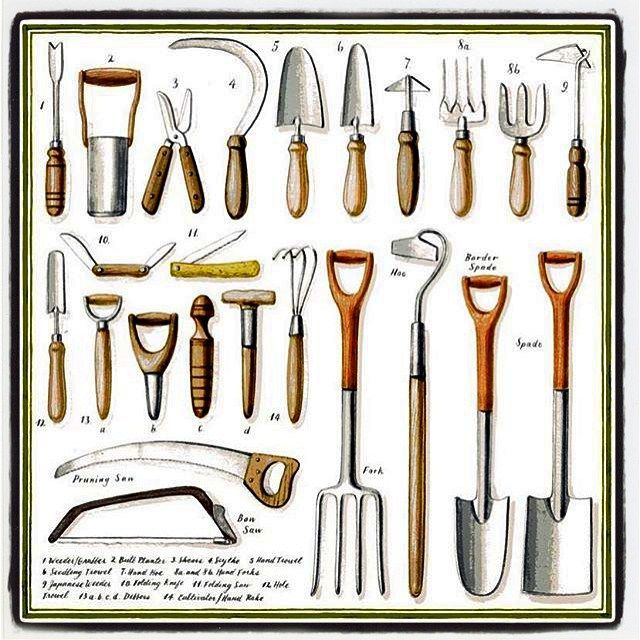 And The Gardening Tools By Mrseaston French General Garden