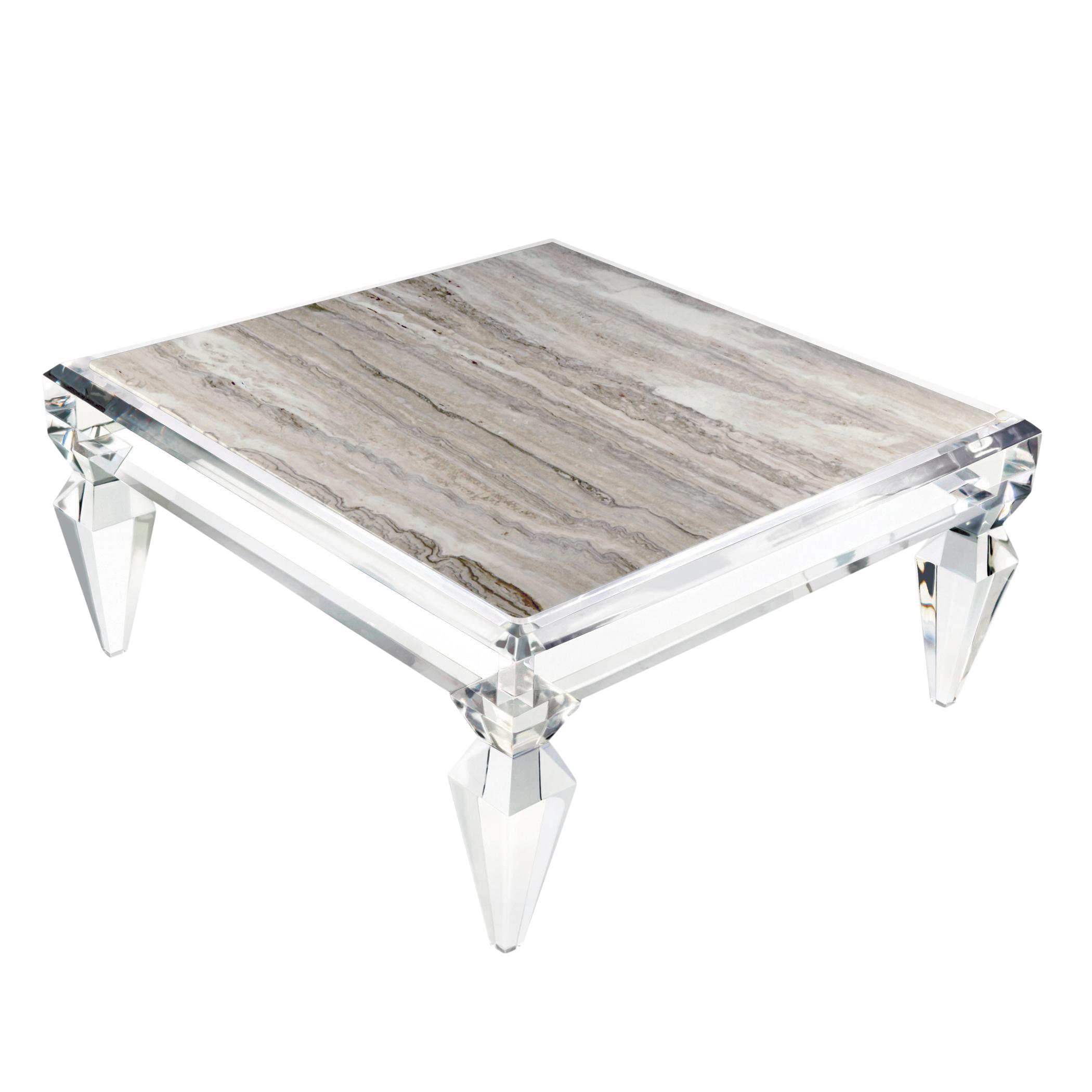 Avenire Lucite Coffee Table By Craig Van Den Brulle 6363 On
