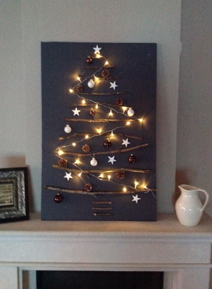 Kerstboom van takken Kerstboom van takken