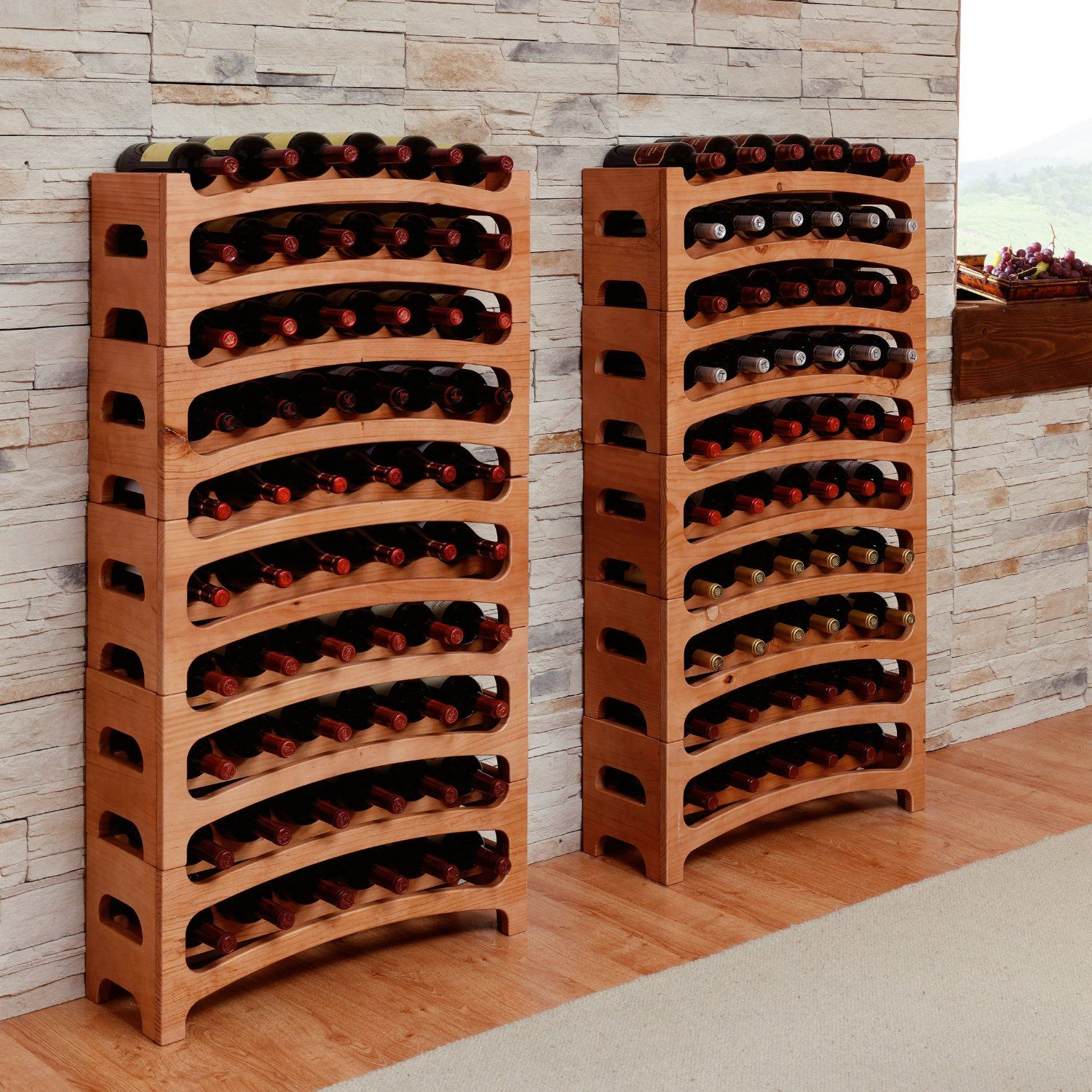 Cantinetta Legno Per Vino wine cellar / wine shelf / bouquet system, solid wood