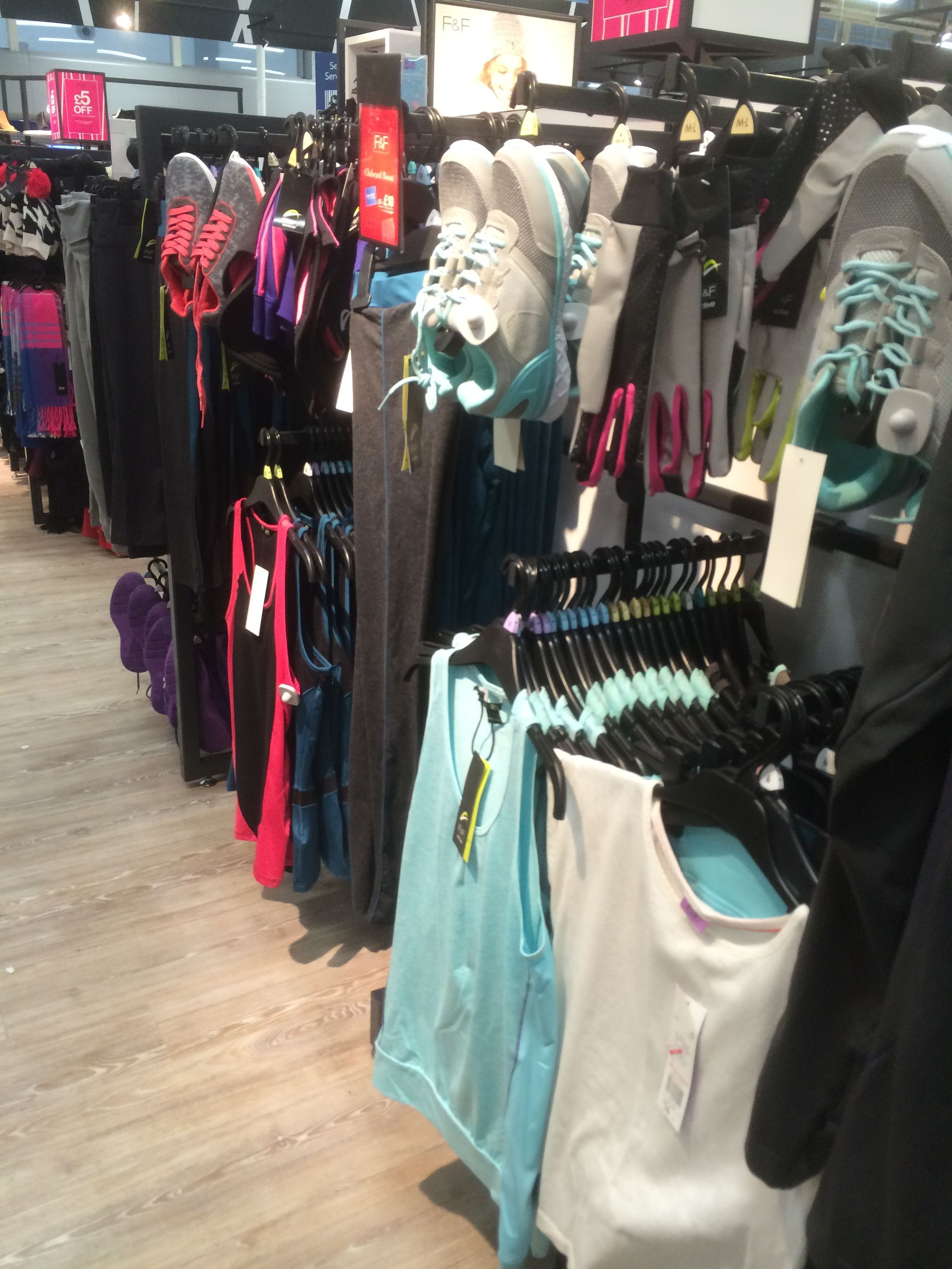 fc7e5aece4e3 Tesco - F F - Fitness - Running - Clothing - Layout - Landscape - Visual  Merchandising - www.clearretailgroup.eu