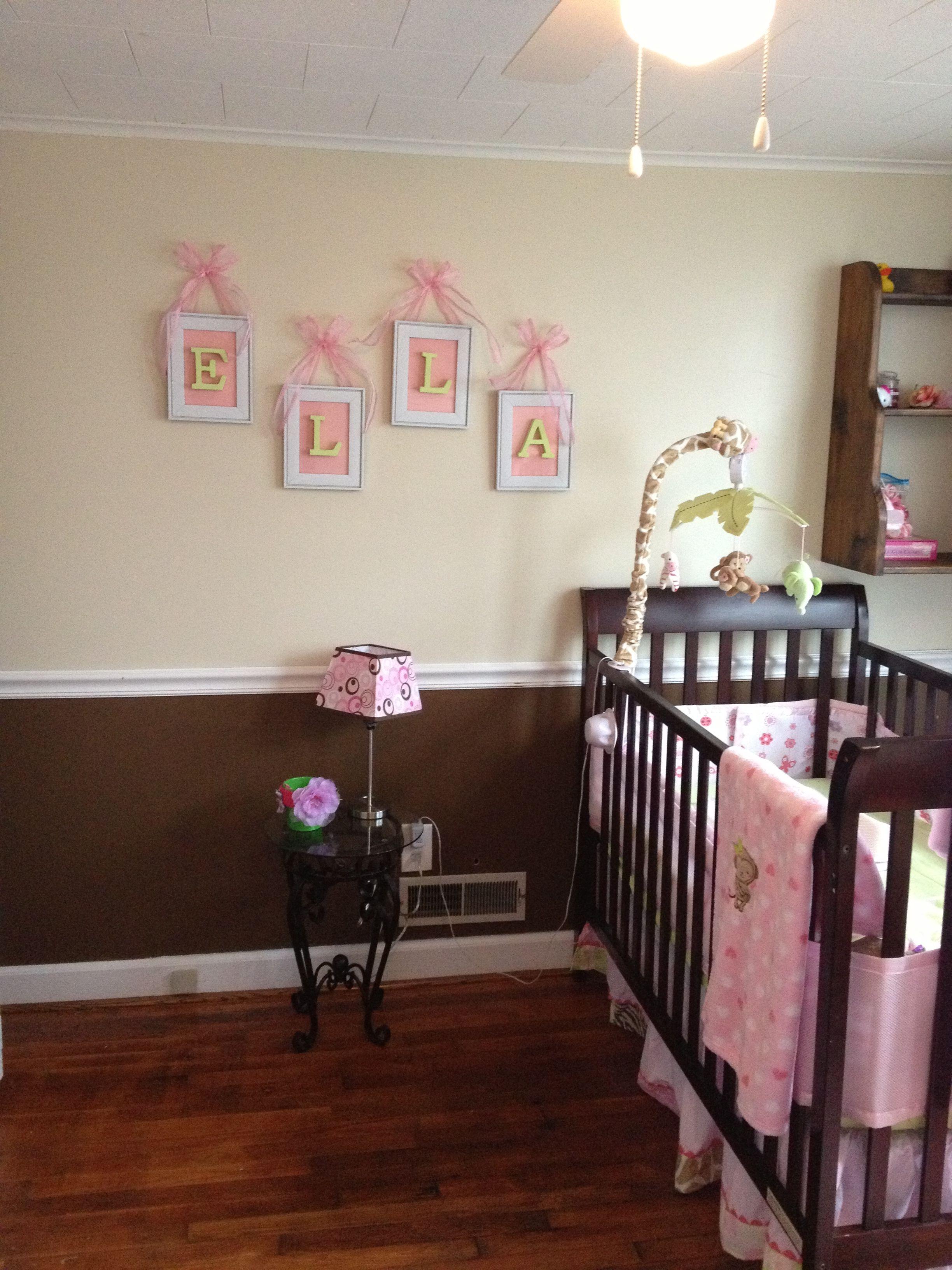 Amazing Boy Nursery: Baby Girl's Name On Wall For Nursery