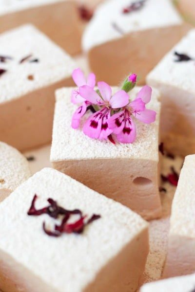 Vitamin C Hibiscus Rose Hip Marshmallows #healthymarshmallows
