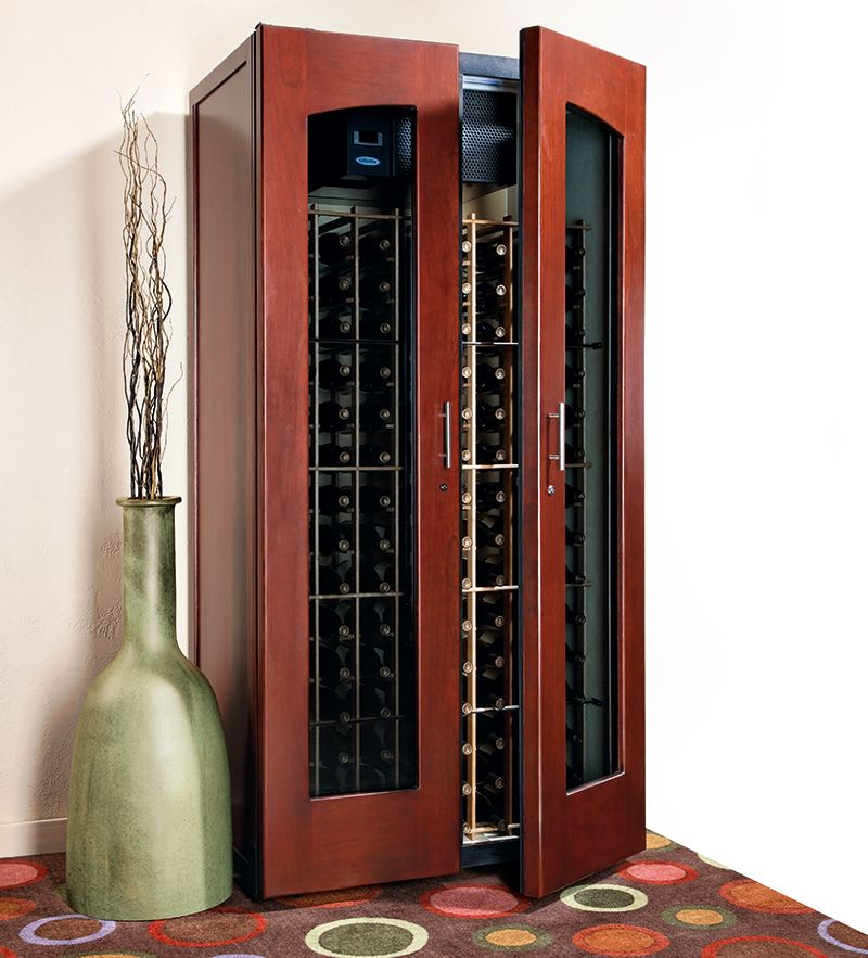 Le Cache Contemporary 2400 Wine Cabinet Classic Cherry 734 Wine