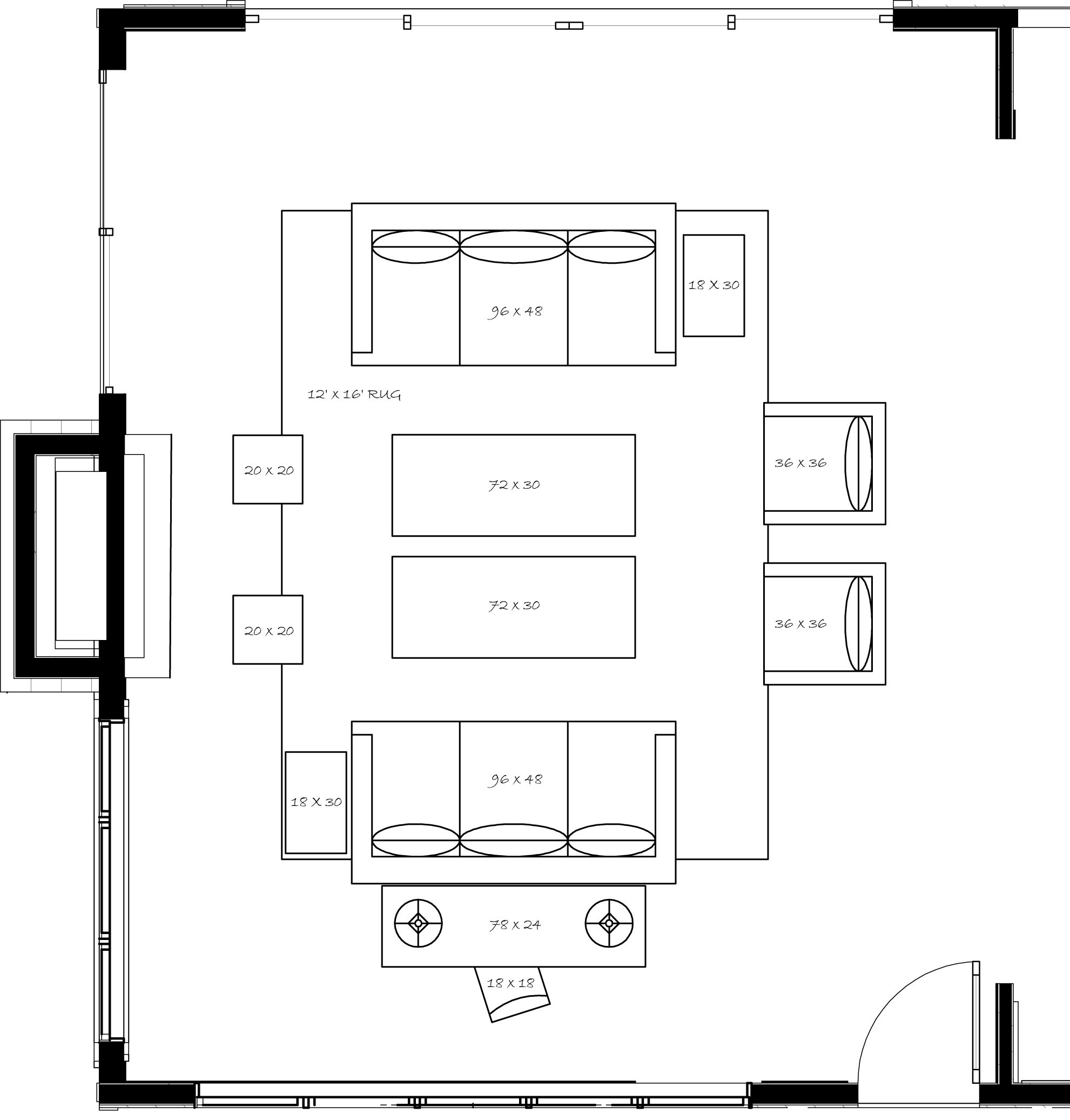 maxyourspace #livebig - ideal floor plan for large rooms. 2 sofas, 2 ...