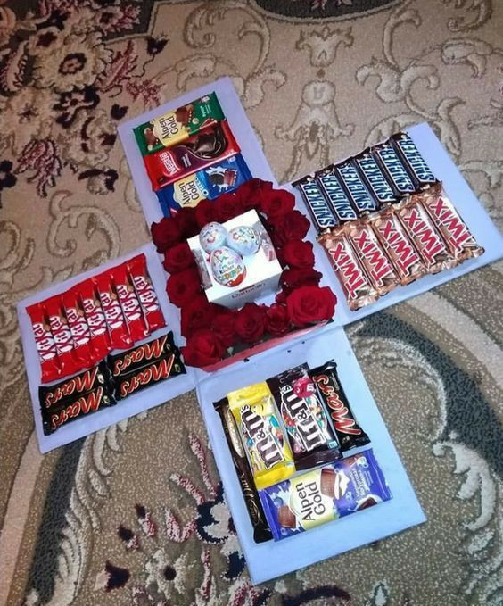 Candy Explosion Box for Valentines Day
