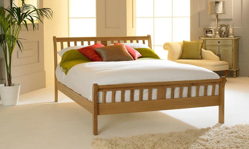 Virginia Light Solid Oak Bed Frame 6ft - Super King | Virginia ...