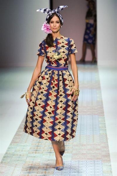 Stella Jean , Milano , Primavera,Estate 2014 Vestito Etnico, Moda Africana,  Moda