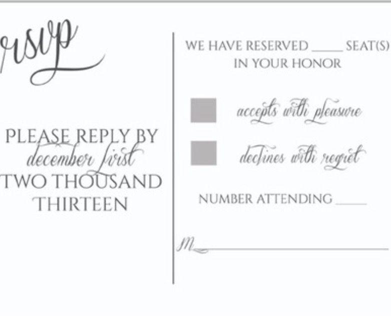 rsvp card examples wedding