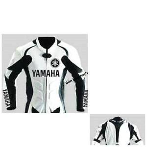 Chaquetas De Cuero Motocicleta Yamaha Moto Gp Carreras Chaqueta Motorista