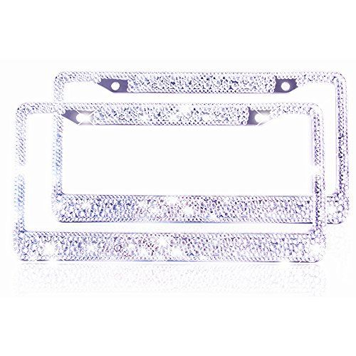 2 #Bling #License #Plate #Frame for #Women #Girl #Pure #Handmade ...