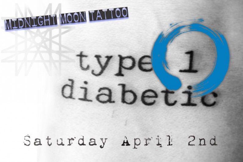 Midnight Moon Tattoo - Type 1 Diabetic Tattoo Day! - Midnight Moon ...