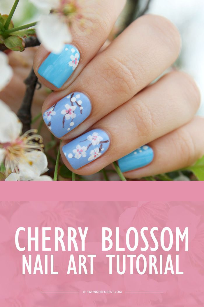 Cherry Blossom Nail Art Tutorial Wonder Forest