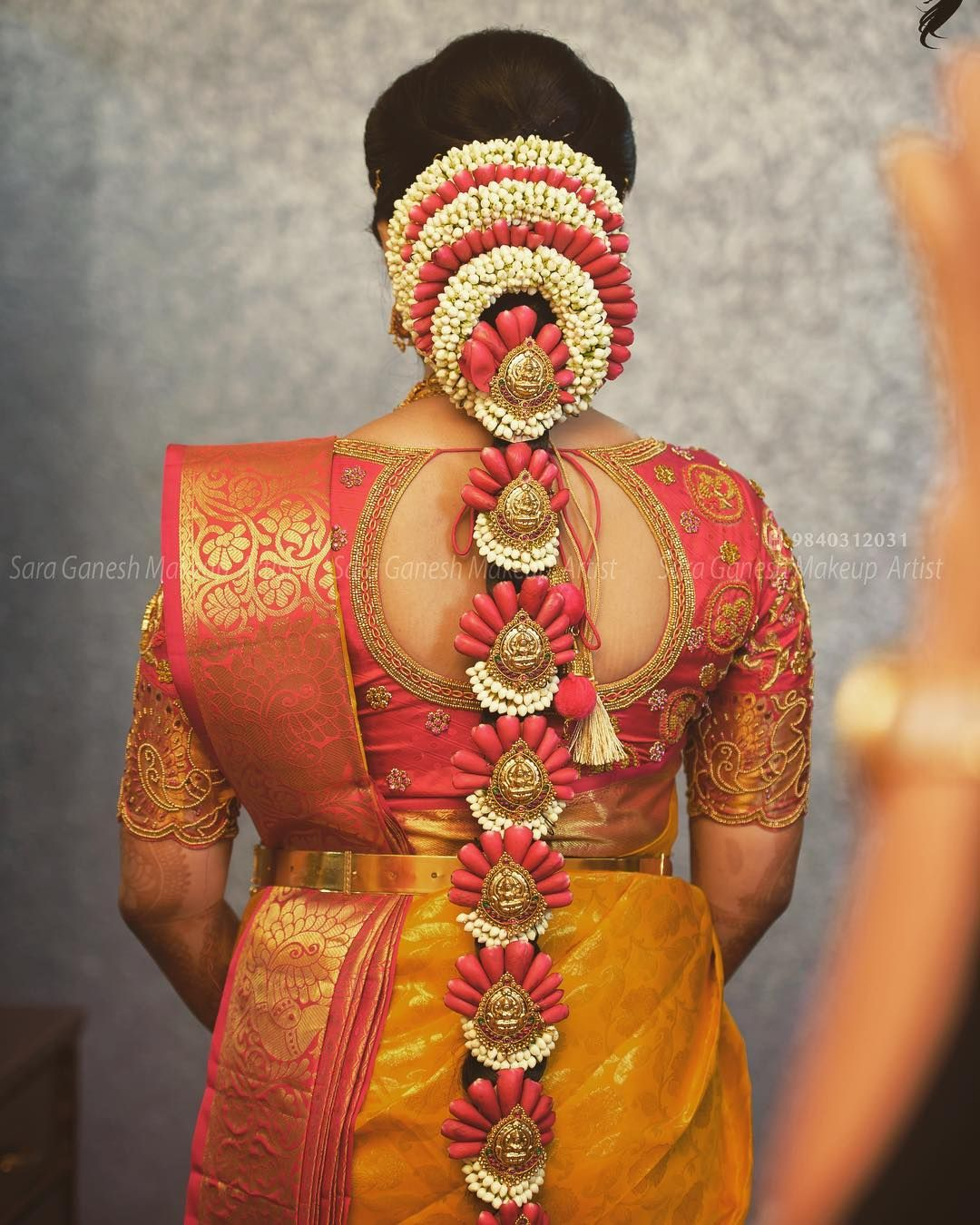 Saraganeshmakeupartist Saraganeshhairdo Coimbatoremakeupartist Bridaliza Indian Bridal Hairstyles Indian Wedding Hairstyles South Indian Bride Hairstyle