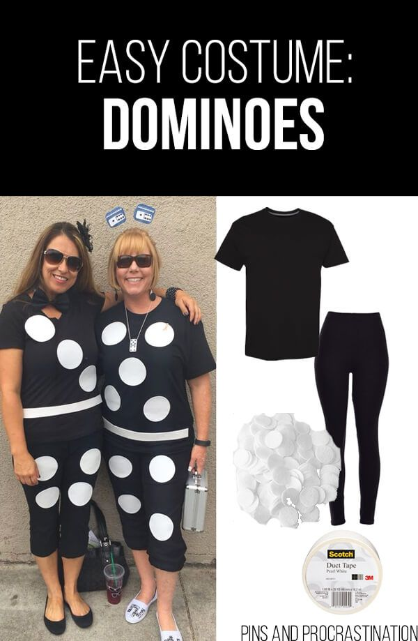 die besten 25 dominoes costume ideen auf pinterest einfache halloweenkost me f r lehrer team. Black Bedroom Furniture Sets. Home Design Ideas