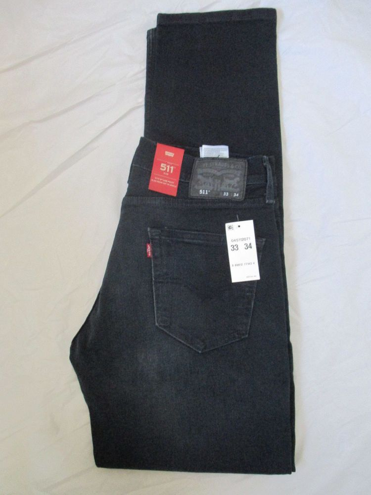 d08b7fc365f Men Levis Jeans 511 Slim Color Dark Blue 045112071 Stretch Brand New Tags # Levis #Slim