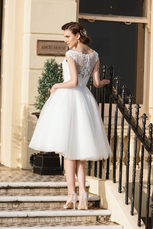 Tea length bridal and us style short wedding dresses brighton
