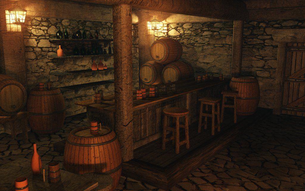 Look & Feel for a dream D&D Room - Walls, Barrels, Rustic