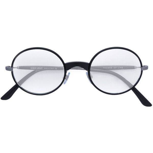 87f85fb3362 Giorgio Armani round frame glasses ( 365) ❤ liked on Polyvore featuring  accessories