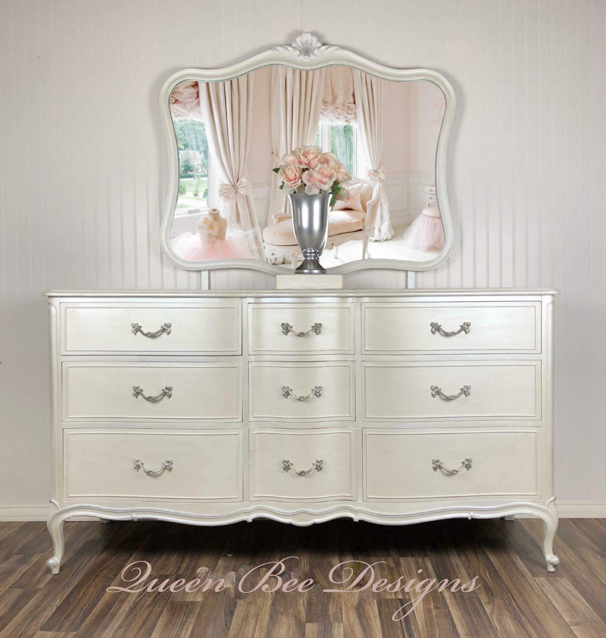 Vintage Drexel 9 Drawer Dresser Finished In Fusion Mineral