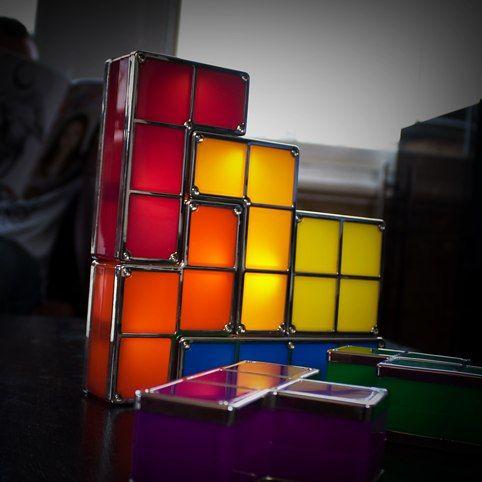 Tetris Light At Firebox Com 49 99 What A Fun Light For A Teenagers Room Led Desk Lamp Desk Light Unusual Lighting