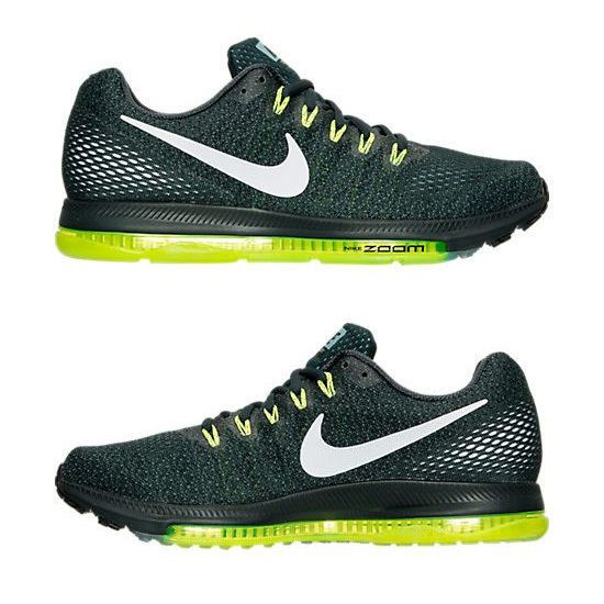 NIKE ZOOM ALL OUT LOW MEN's RUNNING SEAWEED - VOLT - WHITE - BLACK  AUTHENTIC NEW