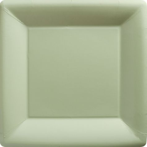 Leaf Green Paper Square Dinner Plates 20ct