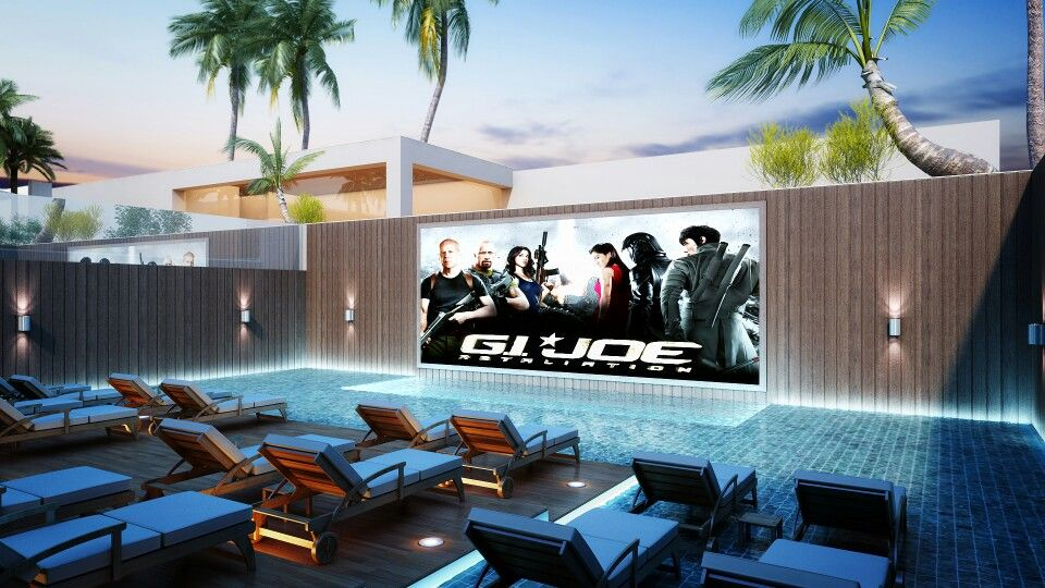 Aqua Sunset Cinema_ Amazing concept designed by Raghuleela Group Ahmedabad, INDIA -A theater in which u can see the movie in open sky with sitting inside a water body.