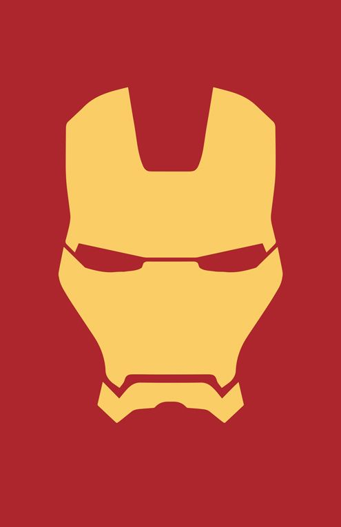 Iron Man Helmet Minimalist Design by burthefly | gimme