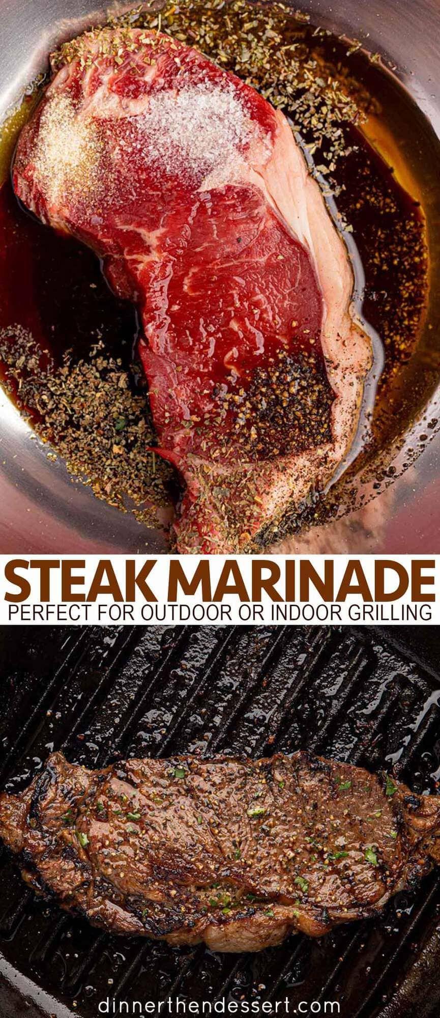 The BEST Ever Steak Marinade - Dinner, then Dessert