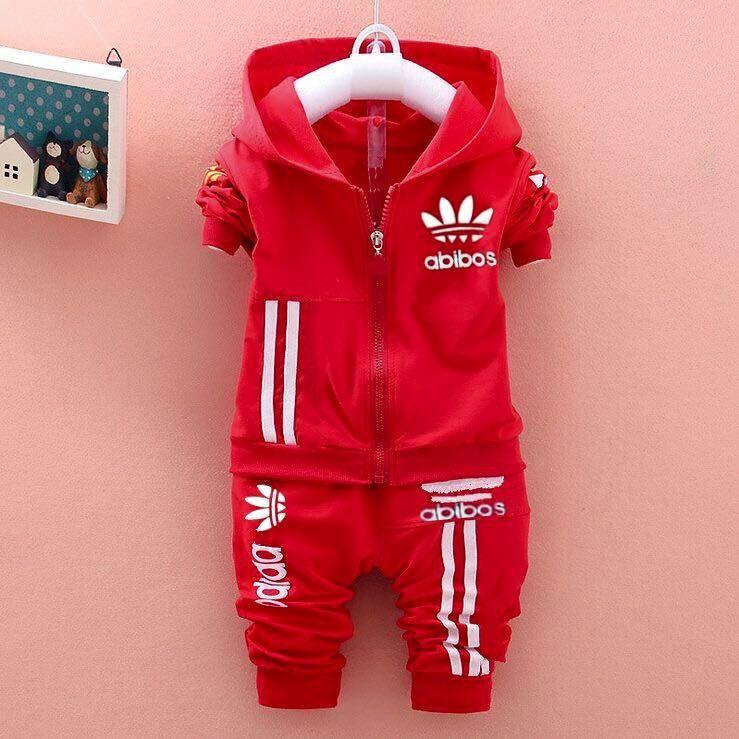 cc01c08bb Chándal Adidas Para Bebé. Cordinado adidas rojo Ropa Deportiva