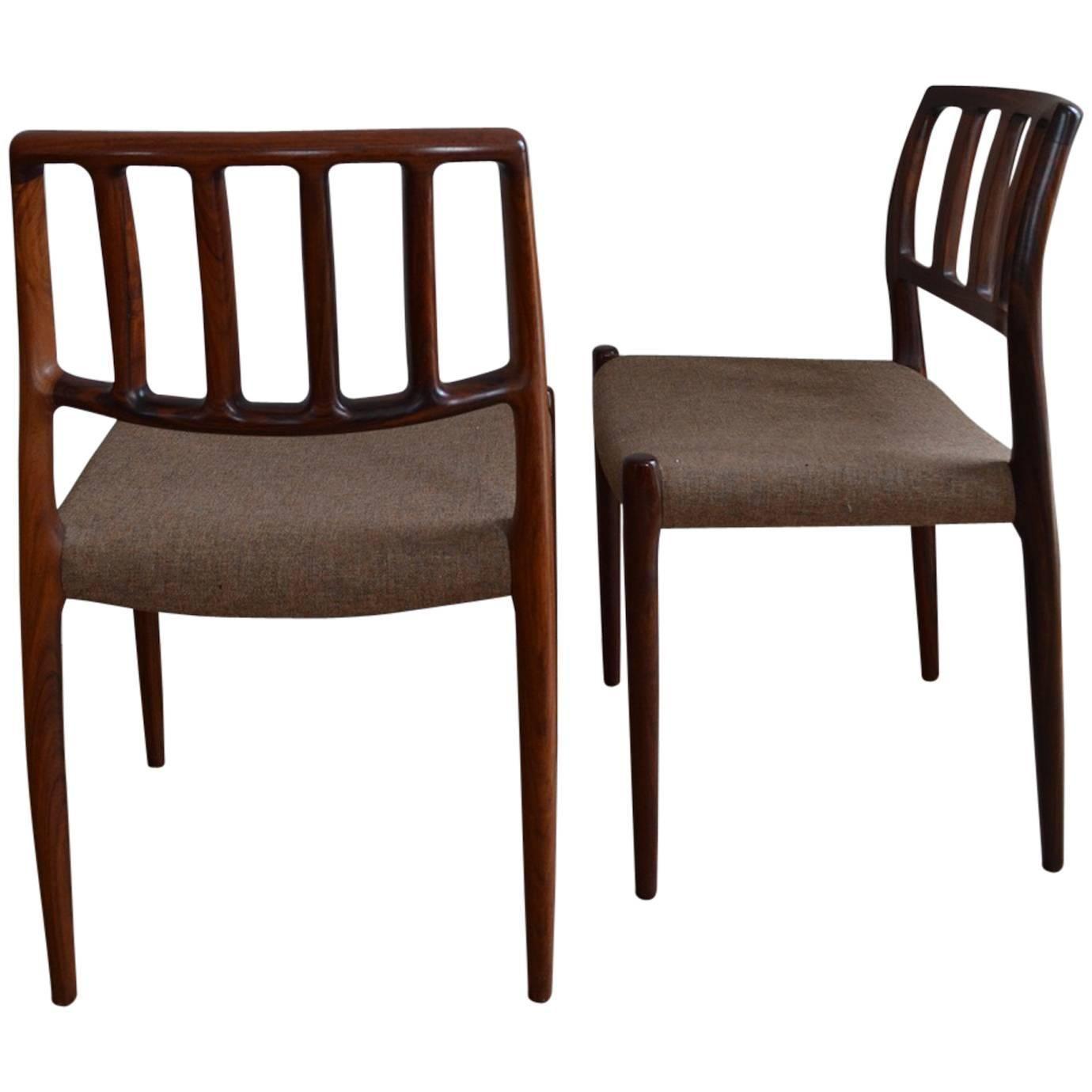 Six Niels O. Møller For J.L. Møller Møbelfabrik Model 83 Dining Chair