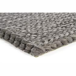Hand Woven Braided Mandara Grey Wool Rug 7 9 X 10 6 630