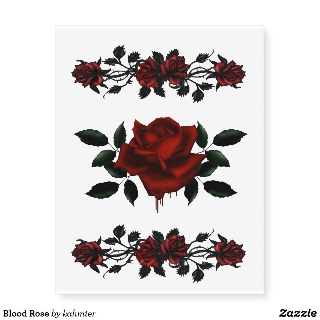 Blood Rose Temporary Tattoos | Zazzle.com