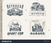 Classic Cars Logo Illustrations On Light Stock Vector (Royalty Free) 403365379 –