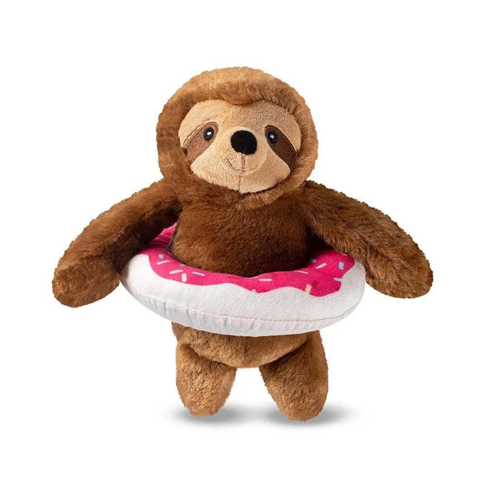 Sloth Pool Dog Cat Toy Stuffed Plush Gift Ideas Stocking Stuffer Sloth Lover Soft Toy Dog Sloth Plush Plush Dog Toys [ 1000 x 1000 Pixel ]