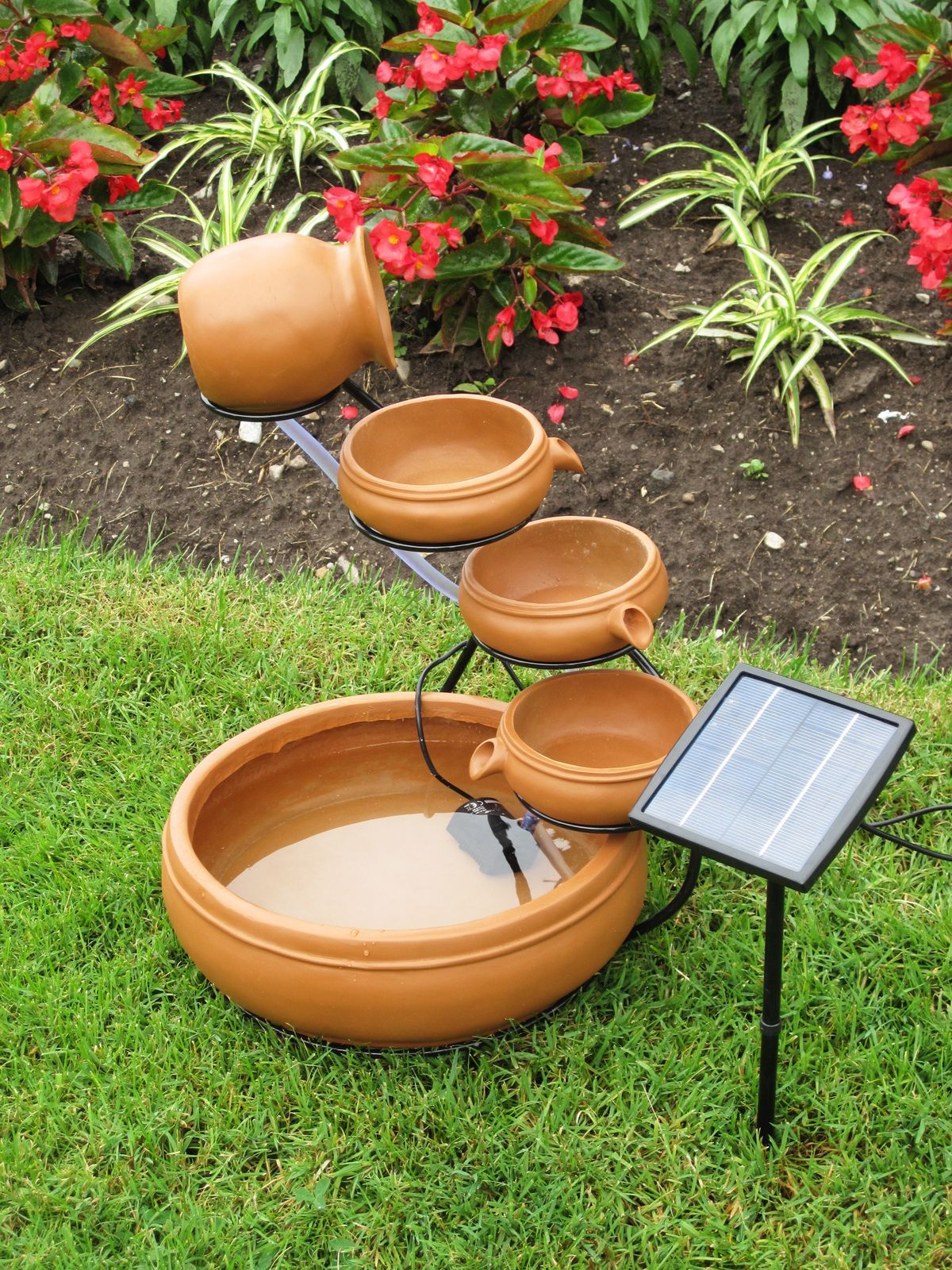 Koolscapes Solar Cascading Fountain Brown Fountains Waterfalls