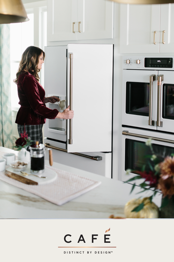 White Kitchen Appliances With Rose Gold Handles