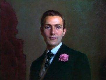 """Dorian Gray (Hurd Hatfield): """"If only it was the picture who was to grow old, and I remain young. There's nothing in the world I wouldn't give for that. Yes, I would give even my soul for it."""" -- from The Picture of Dorian Gray (1945) directed by Albert Lewin"""